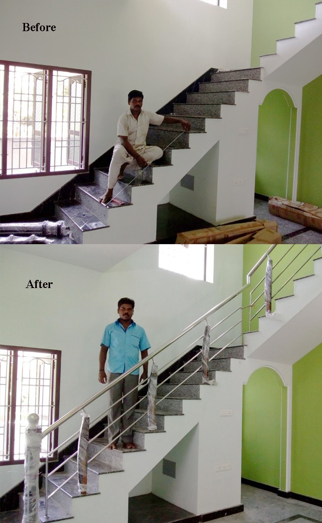 We Are Recently Finished Staircase With Curve Handles And Readymade Beam At  Thollaivillai Near To Nagercoil Area. For Your Dream Home Stainless Steel  ...